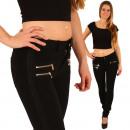 wholesale Jeanswear: Trousers Women  Jeans Treggings Leggings Black New