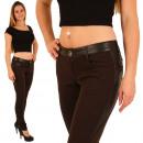 ingrosso Jeans: Pantaloni jeans  Donna Treggings Leggings Marrone N