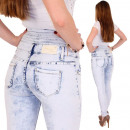 wholesale Jeanswear: Pants Jeans Women  Corsagenhose high cut Batik