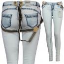 ingrosso Jeans: Signore jeans con  bretelle pantaloni della tuta Ju