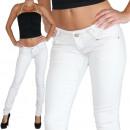 Großhandel Jeanswear: Jeans Damen Hose  Röhrenjeans Pants Hüftjeans Weiss