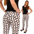 Großhandel Jeanswear: Treggings Hose  Jeans Leggings Damen Weiss Schwarz