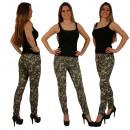 Jeans Amry ottica delle donne Camouflage pantaloni