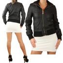 hurtownia Plaszcze & Kurtki: Faux Leather  Jacket Ladies  Kurtka skórzana ...