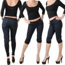 Großhandel Jeanswear: JEANS DAMEN CAPRI  HOSE RÖHRENJEANS HÜFTHOSE