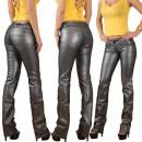 ingrosso Pantaloni: Pantaloni signore  pelle argento in pelle sguardo d