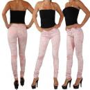 wholesale Jeanswear: Jeans Women  treggings pants in batik optic tube