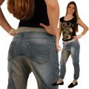 wholesale Trousers: Women jeans pants  baggy harem Sport Pump Blue