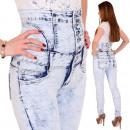 Corsagenhose spodnie jeansowe wysokiej cięcia Wyso