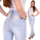 Spodnie jeansowe damskie Corsagenjeans o wysokiej