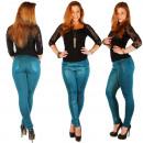 Treggings avec un  pantalon en cuir synthétique Jea