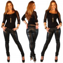 wholesale Trousers: Imitation leather  pants women pants PU Synthetic L