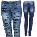 ingrosso Jeans: Jeans Donna  utilizzato look  con tubo crepe ...