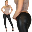 wholesale Trousers: Artificial leather  shorts for women in 6 colors Je