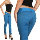 Großhandel Jeanswear: Jeans Damen mit  Gürtel Röhrenjeans Hüfthose Hose