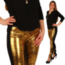 Trousers Women  Leggings Treggings Gold Jeggings Je