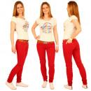 Spodnie jeans damskie Skinny Jeans z pasa Hipster