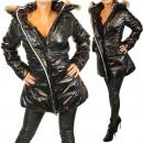 hurtownia Plaszcze & Kurtki: Błyszcząca kurtka  kurtka płaszcz zimowy płaszcz da