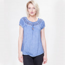 Großhandel Hemden & Blusen: Damen Bluse Sommer  in 4Farben by Sationela