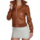 hurtownia Plaszcze & Kurtki: Kurtka skórzana  damska Faux  Leather Look ...