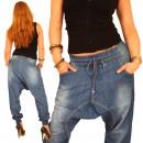 Spodnie jeans harem pants Boyfriendcut pompowania