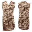 Großhandel Kleider: Damen Kleid  Oberteil Army Look Camouflage