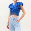wholesale Shirts & Blouses: Women's top top shirt with lace blouse