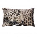 grossiste Maison et habitat: Coussin photoprint  satin 30x50 cm, motif léopard,