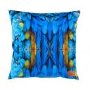 grossiste Maison et habitat: Coussin photoprint  velours 45x45 cm, motif plumes