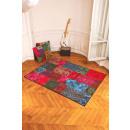 grossiste Tapis & Sols: Tapis imprimé  style patchwork kilim en polyamide.