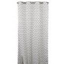 grossiste Rideaux & Tentures: Rideau scandinave,  blanc motif gométrique anthraci