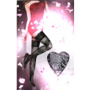 Großhandel Strümpfe & Socken: Halterlose Strapsen Schwarz mit Blüten One Size