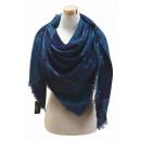 Großhandel Kleider: XXL Damen Schal  Glitzer Fäden Tuch mit Stern Blau