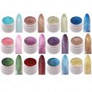 groothandel Speelgoed: 12 x UV kleurgel  glitter effect Gel Fingernail