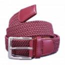 wholesale Belts: Unisex braided  belt belt plaited eggplant