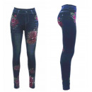 ingrosso Jeans: rose Thermo ghette Jeggings Strass