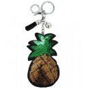grossiste Porte-cles: Poche porte-clés ananas Glitter