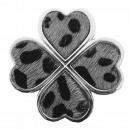 grossiste Magnetique: Broche Aimant Pin Trèfle Fourrure Gris