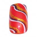 Großhandel Drogerie & Kosmetik: 12 Airbrush Nails Tips Rot mit Wellen Muster