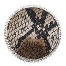 groothandel Stationery & Gifts: Magneet broche speldenslangpatroon bruin
