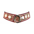wholesale Belts: Women Ethno Belt  Pearl Black Hippie Boho