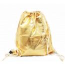 Großhandel Schulbedarf: Turnbeutel Gym Bag Beutel Hipster Gold Metallic