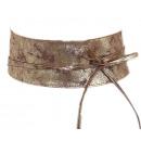 groothandel Kleding & Fashion: Riem Heupband Wrap Bandage Leer Goudbruin