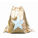 Turnbeutel Gym Bag Beutel Hipster Gold Glanz