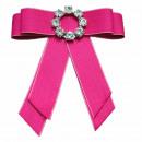 wholesale Electrical Installation: Bow Brooch Pin Diamond Rhinestone Pink