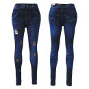 wholesale Jeanswear: Sexy Ladies  Jeggings Leggings jeans look with crac