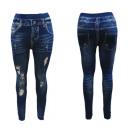 Jeaggings Leggings Hose Jeans mit Risse Optik
