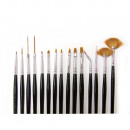Großhandel Make-up Accessoires: 15 teilig Pinselset Gel Acryl Striper ...