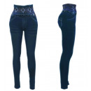 wholesale Trousers: Thermo Jeggings  High Waist Leggings Check