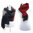 Großhandel Fashion & Accessoires: Damen Schal Winter  Tuch Plaid Cape Scarf Rot